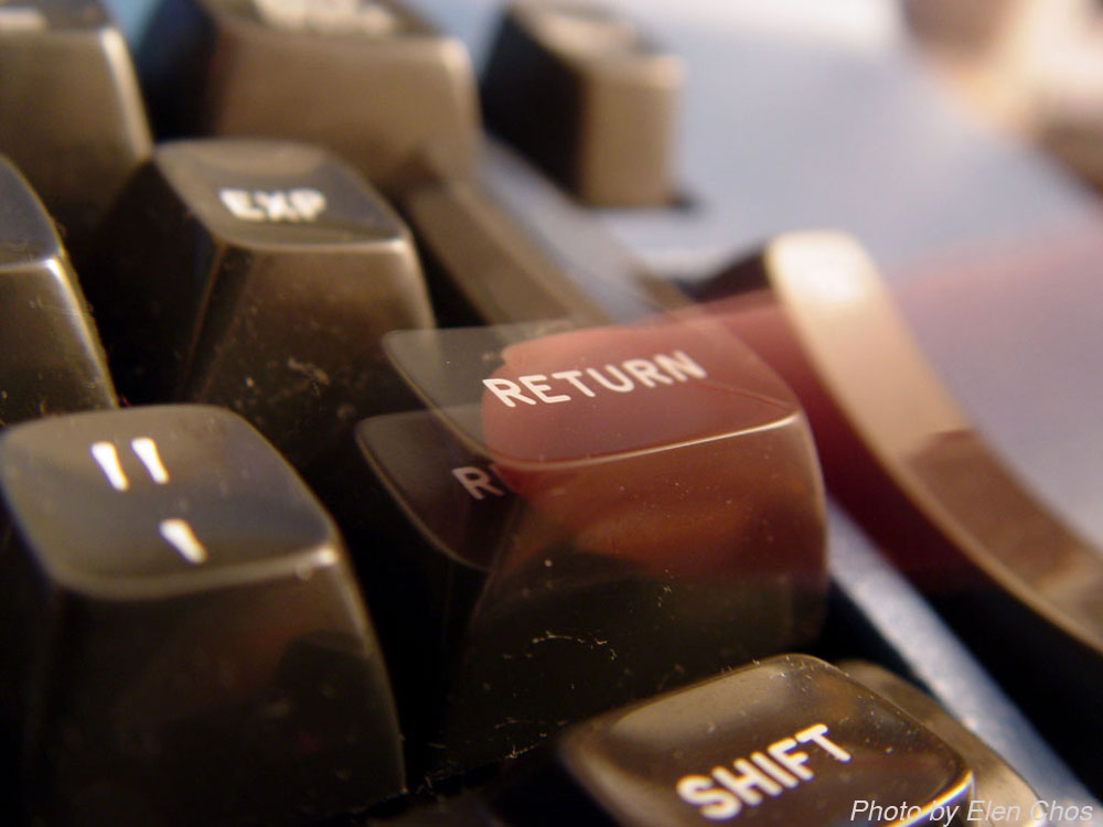 Hitting return key to the offices